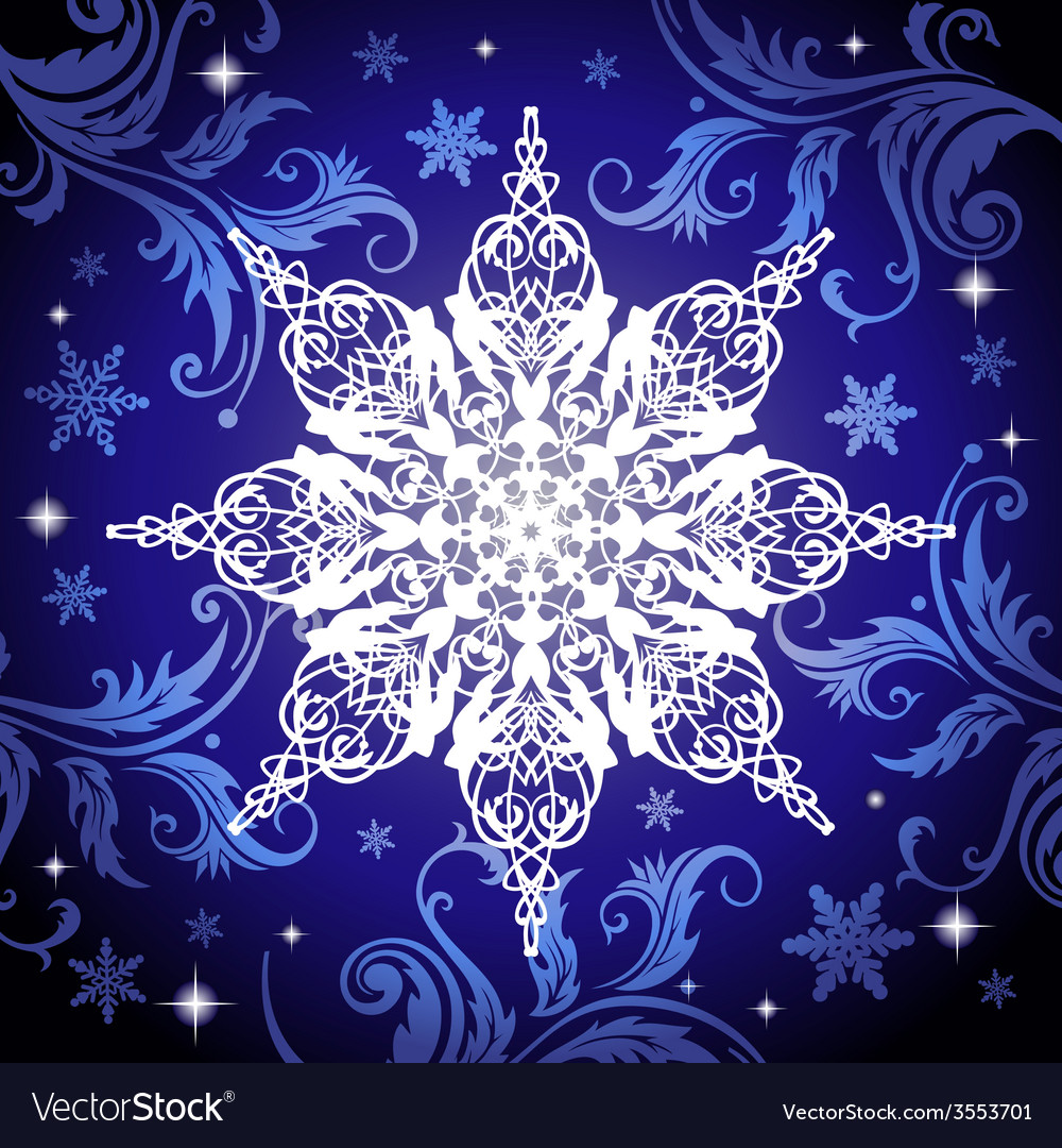 Ornate snowflake vector | Price: 1 Credit (USD $1)