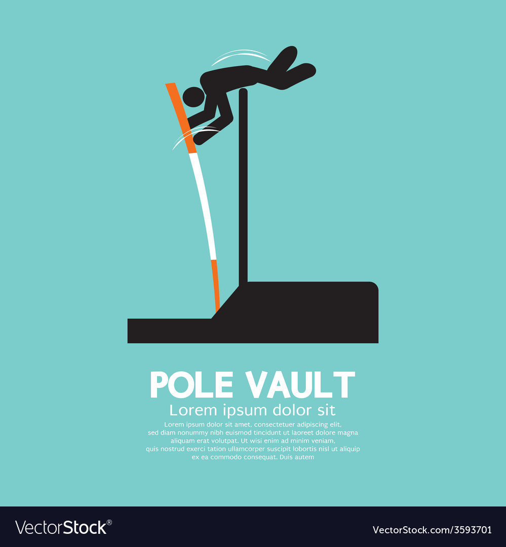 Pole vault athletes graphic symbol vector | Price: 1 Credit (USD $1)