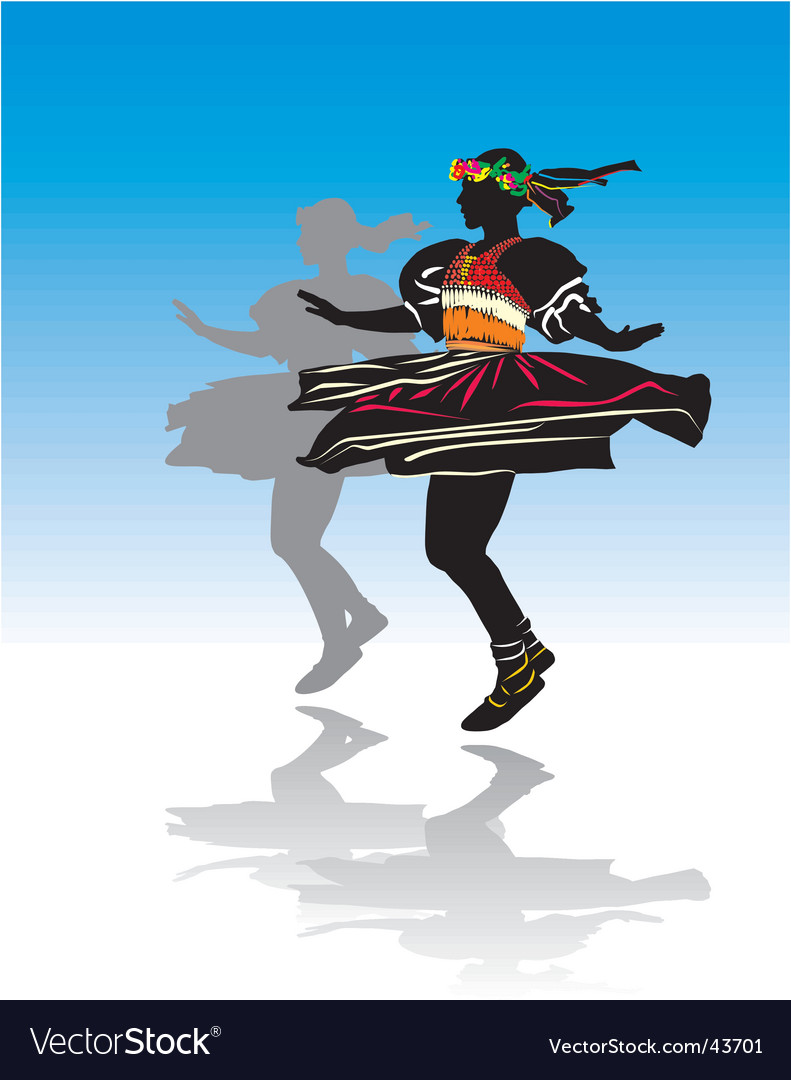 Traditional dancer vector | Price: 1 Credit (USD $1)
