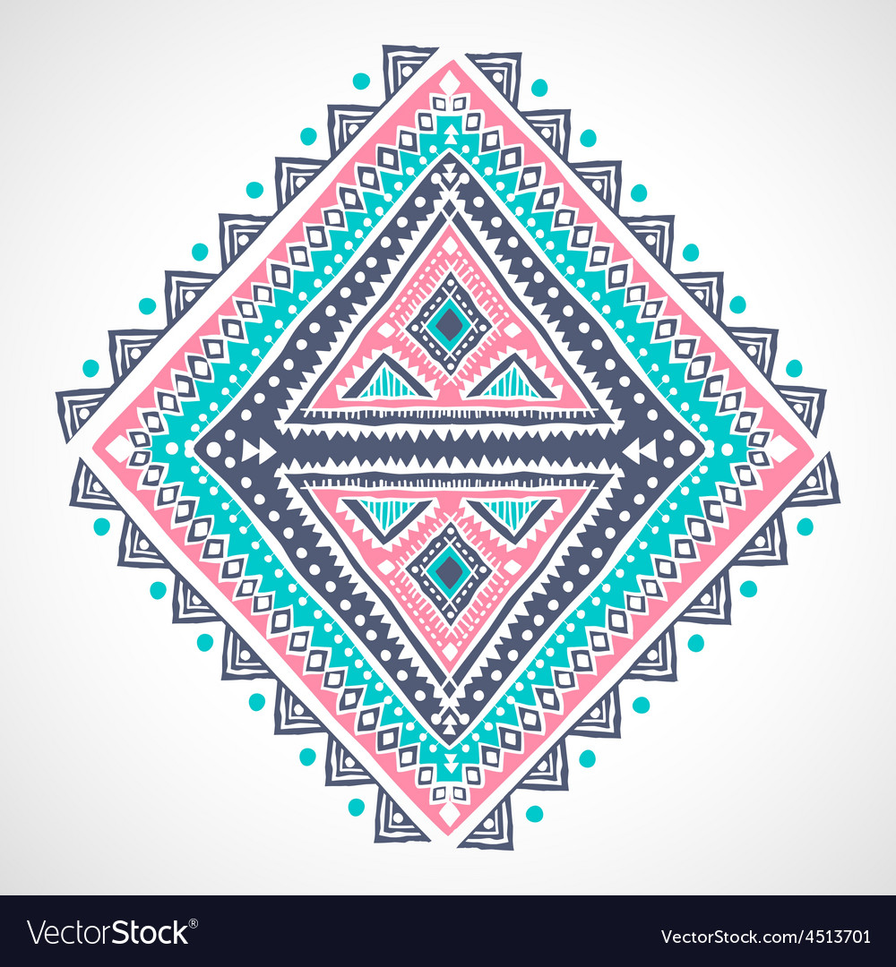 Tribal ethnic mexican african ornament vector | Price: 1 Credit (USD $1)