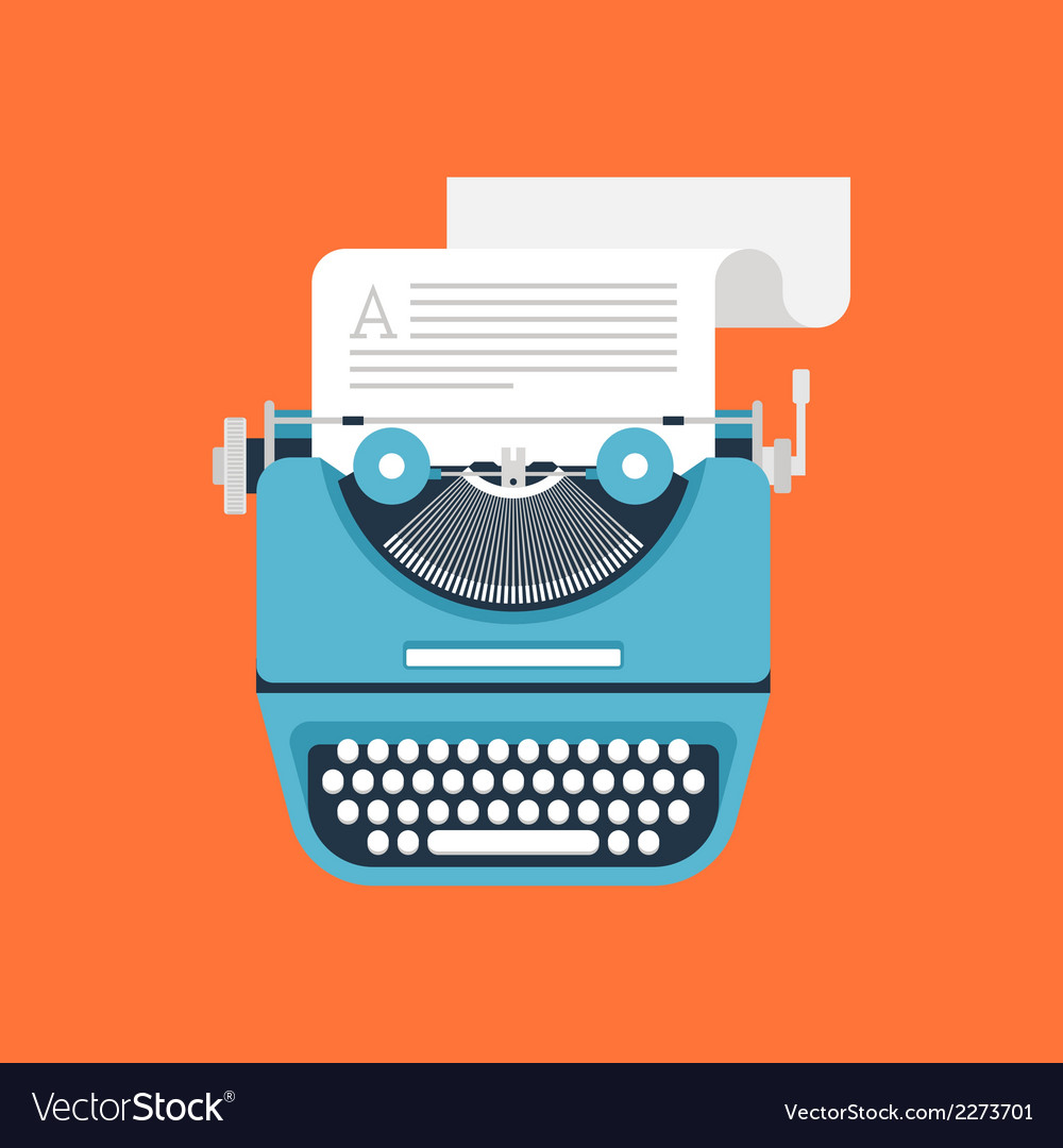 Typewriter vector | Price: 1 Credit (USD $1)