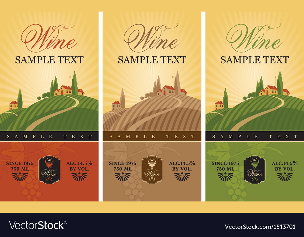 Wine labels vector | Price: 1 Credit (USD $1)