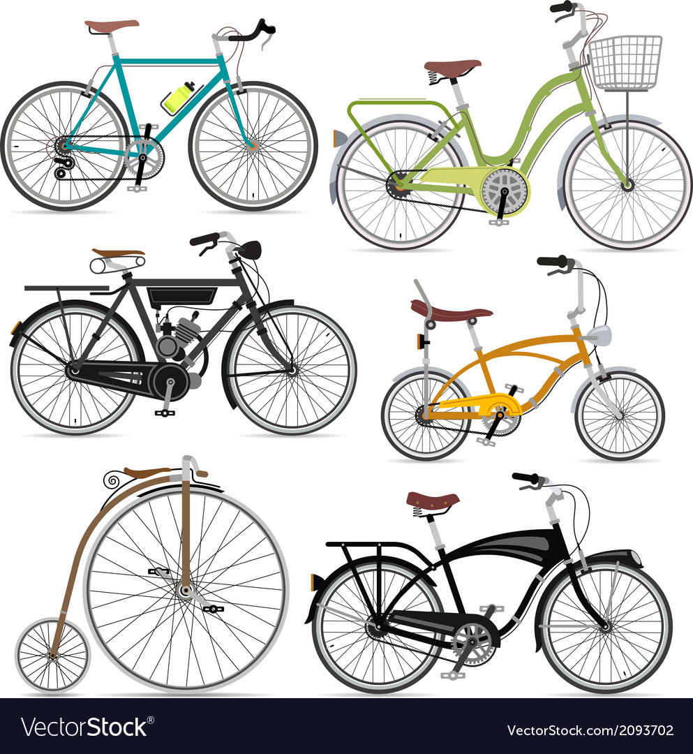 Bicycle set vector | Price: 1 Credit (USD $1)