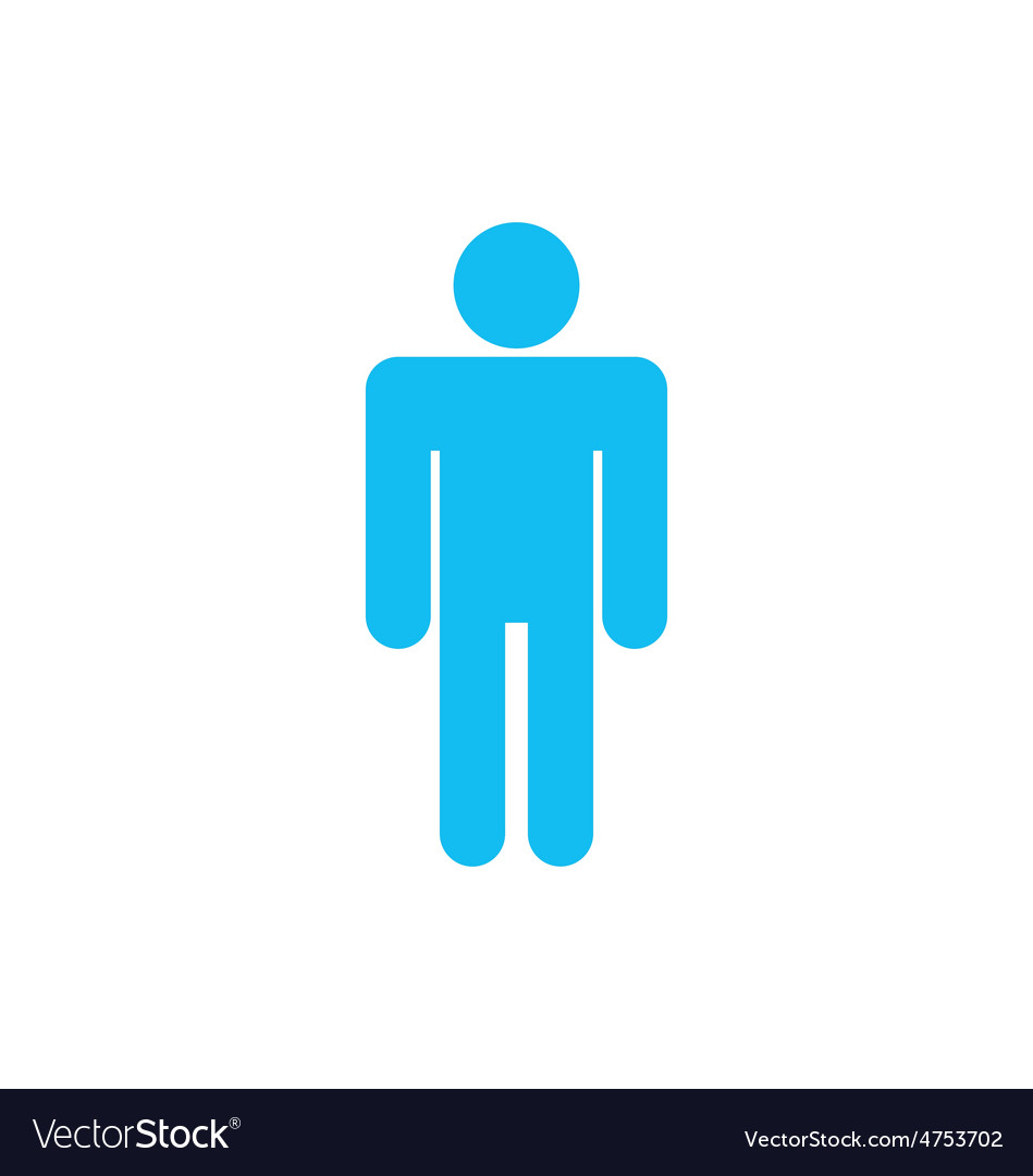 Flat icon of male isolated on white background vector | Price: 1 Credit (USD $1)