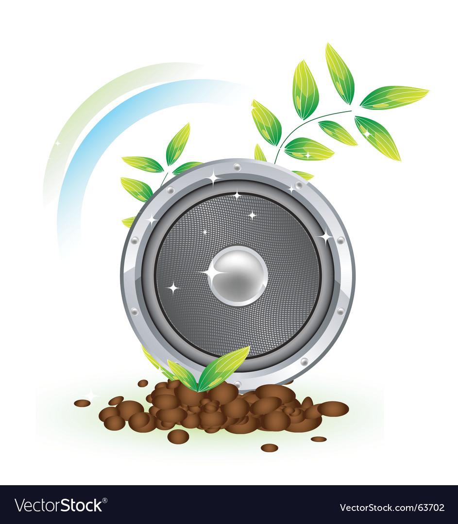 Nature speaker vector | Price: 1 Credit (USD $1)