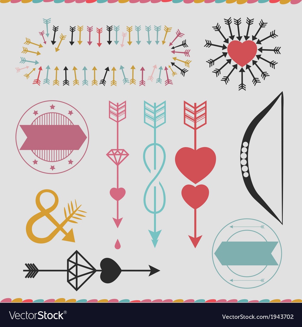 Pop arrows set vector | Price: 1 Credit (USD $1)
