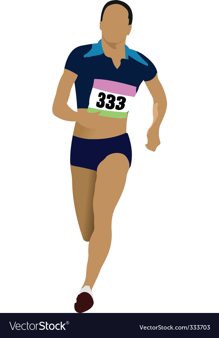 Athlete running vector | Price: 1 Credit (USD $1)