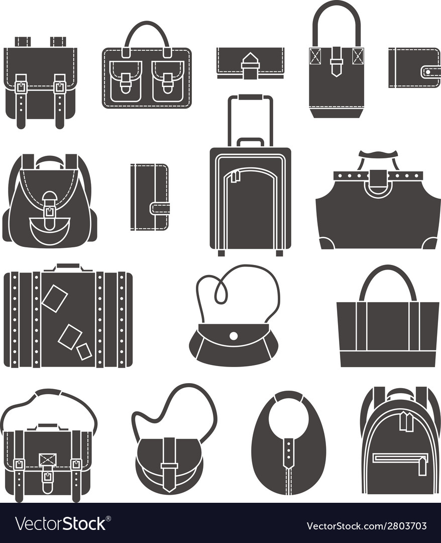 Bags icons set vector | Price: 1 Credit (USD $1)