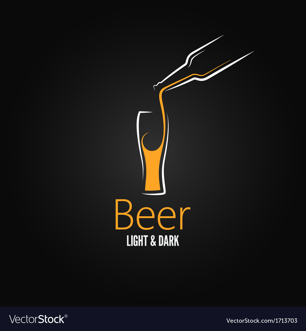 Beer glass design menu background vector | Price: 1 Credit (USD $1)