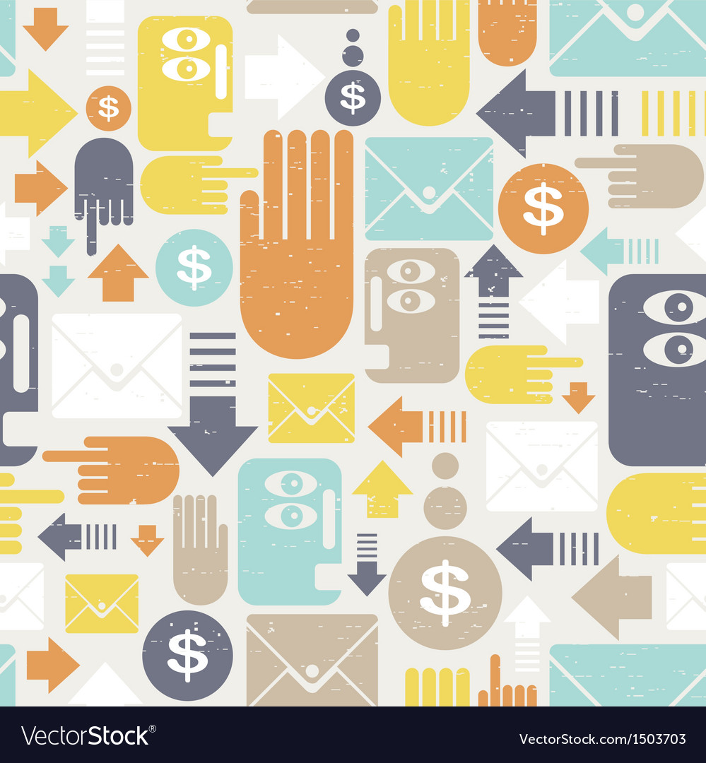 Communication in business seamless pattern vector | Price: 1 Credit (USD $1)