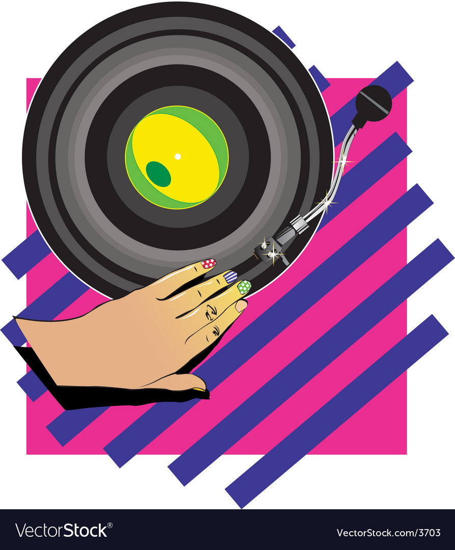 Female hand dj vector | Price: 1 Credit (USD $1)
