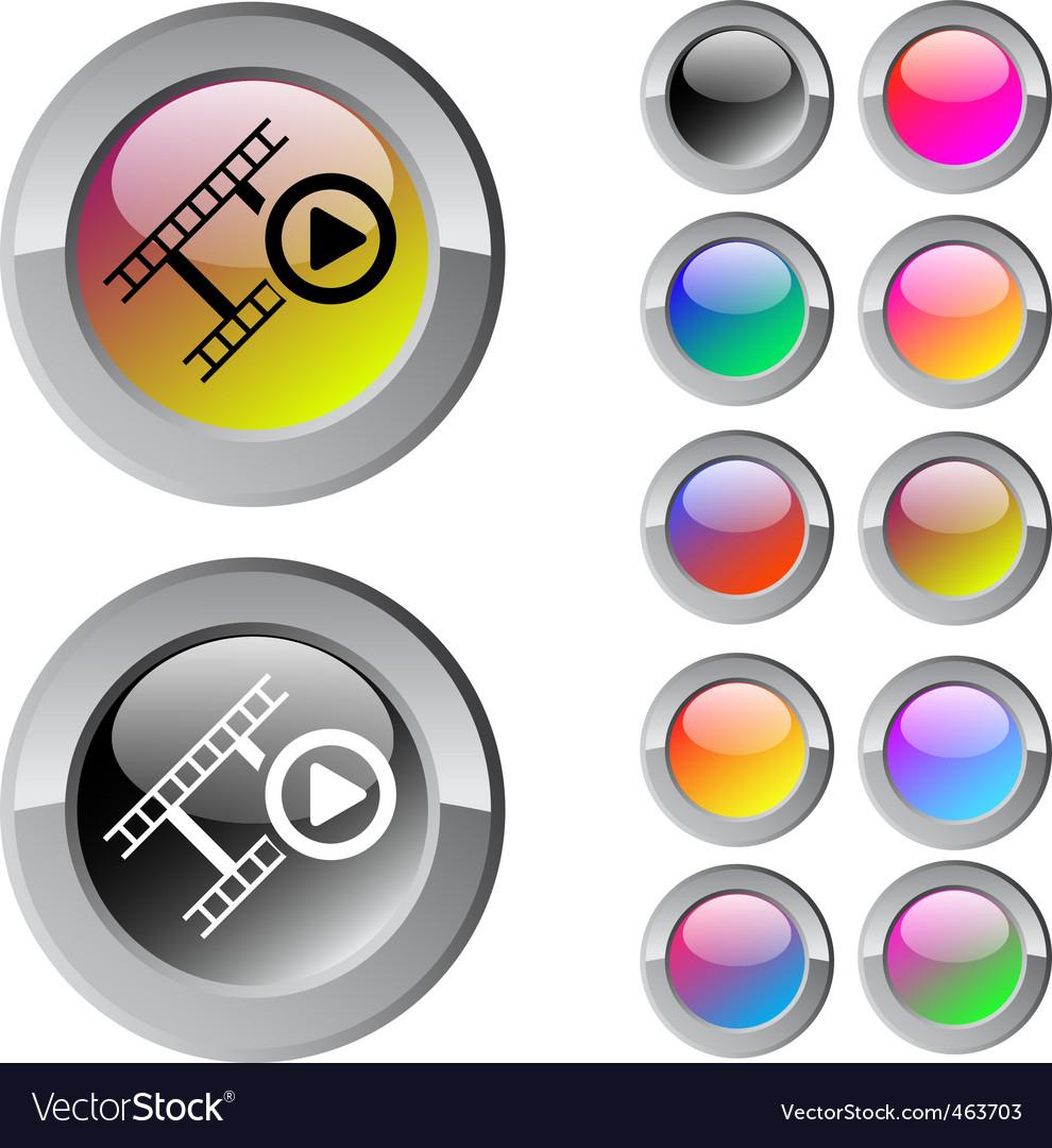 Film multicolor round button vector | Price: 1 Credit (USD $1)