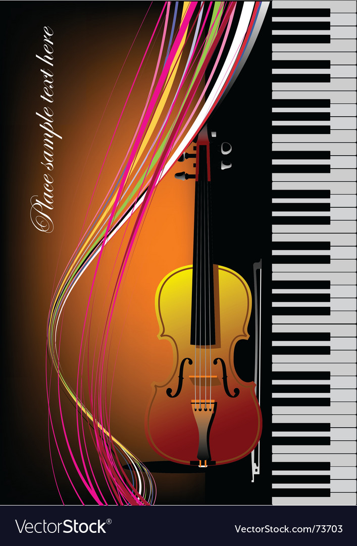 Piano with violin vector | Price: 1 Credit (USD $1)