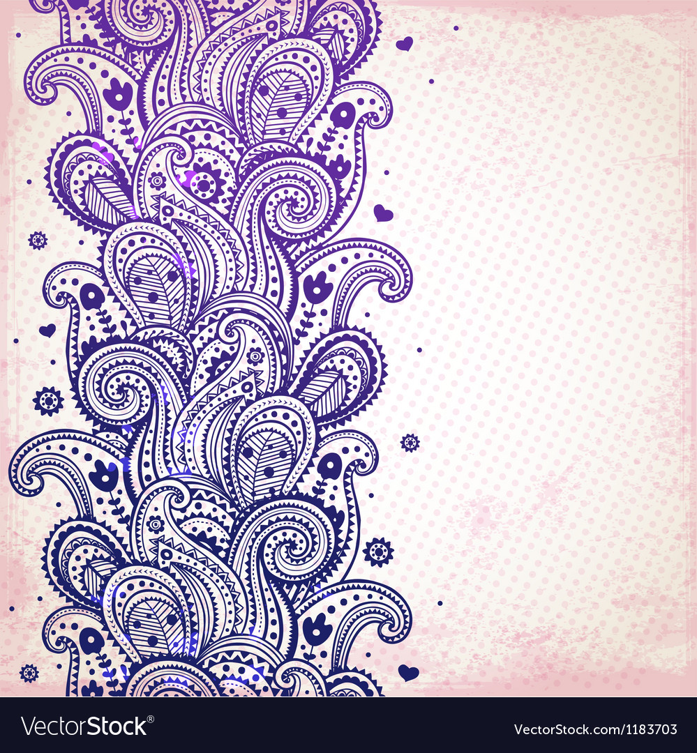 Purple ornament vector | Price: 1 Credit (USD $1)