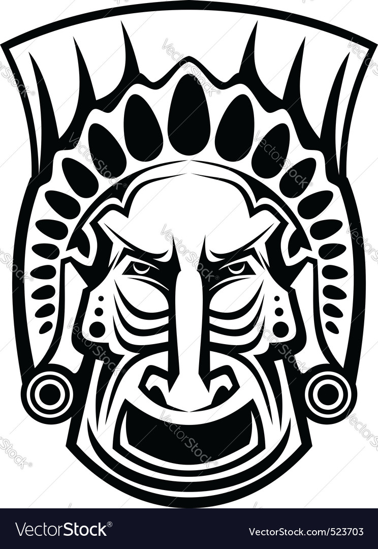 Religious mask vector | Price: 1 Credit (USD $1)