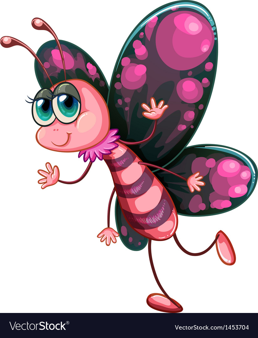 A pink butterfly vector | Price: 1 Credit (USD $1)