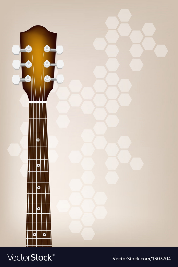 Acoustic guitar bridge on brown background vector | Price: 1 Credit (USD $1)