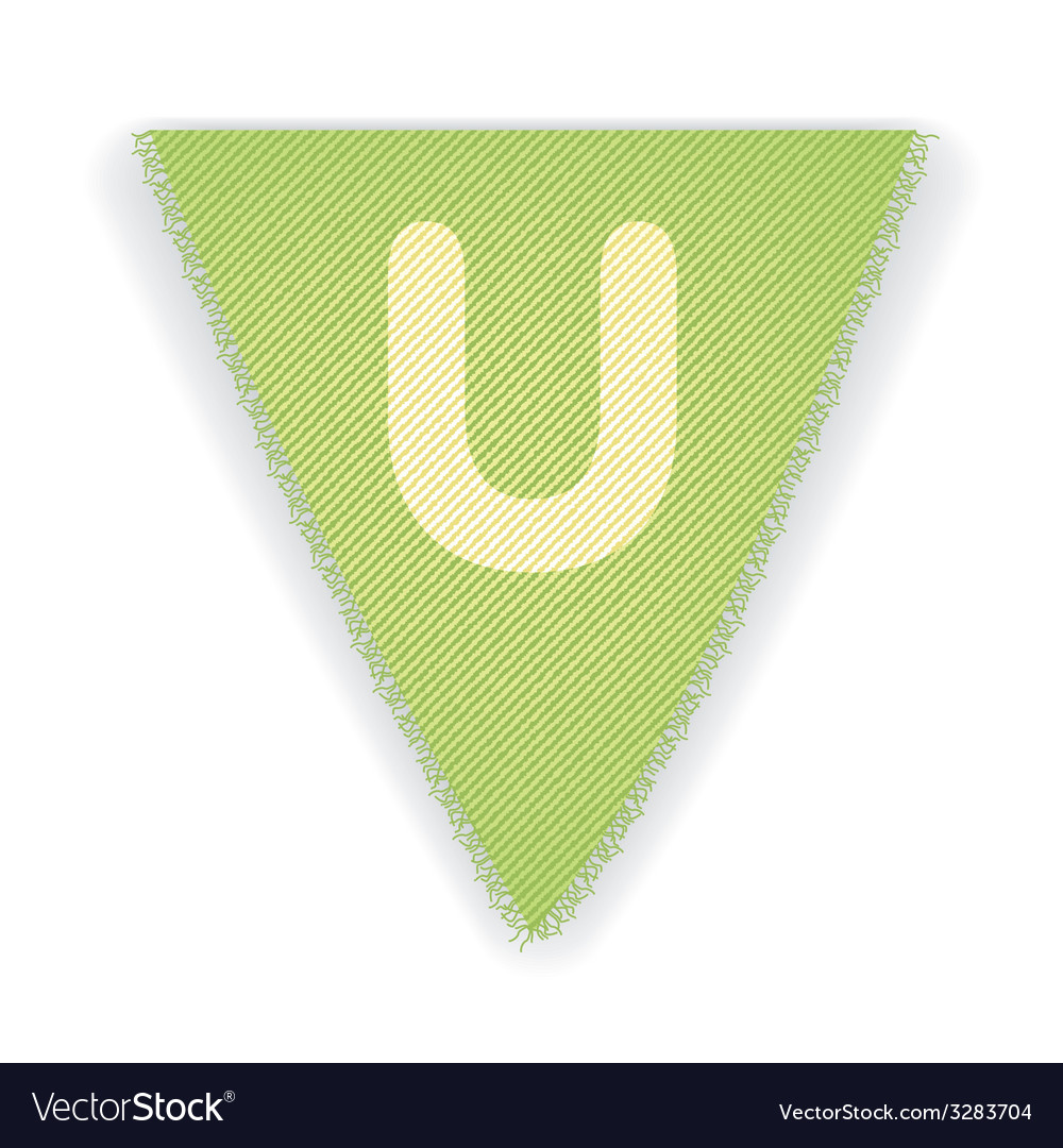Bunting flag letter u vector | Price: 1 Credit (USD $1)