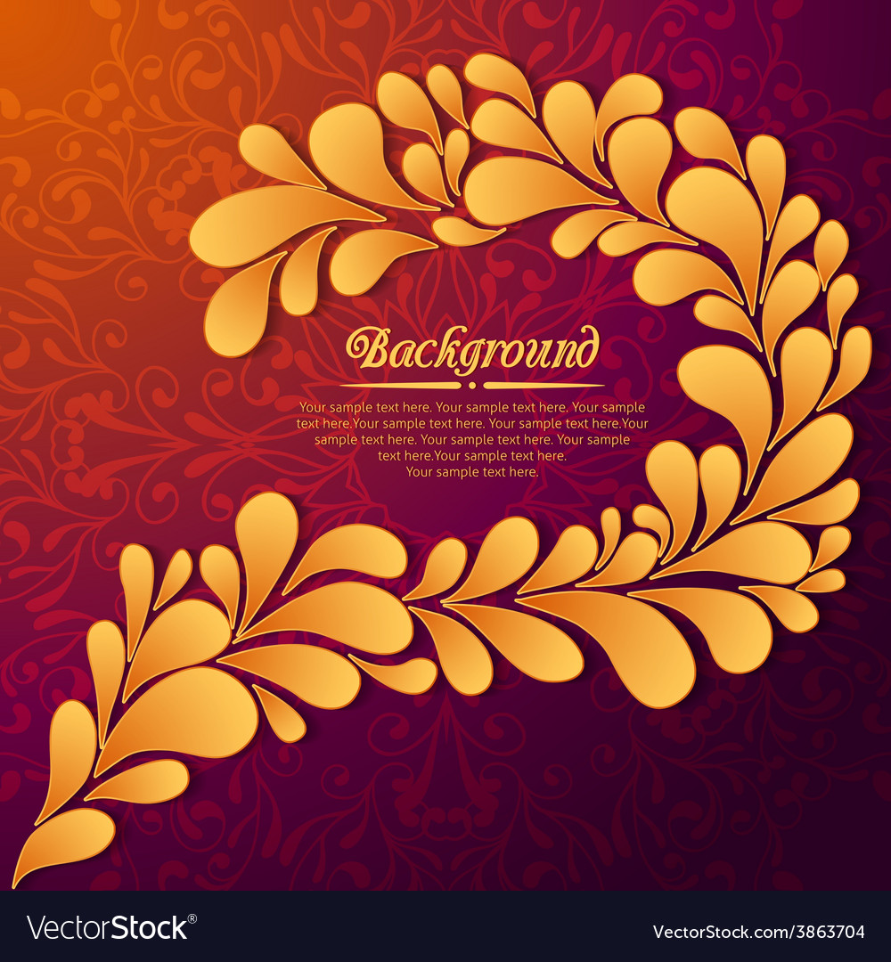 Elegant floral background with gold drops and vector | Price: 1 Credit (USD $1)