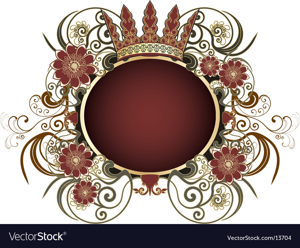 Floral decorative frame vector | Price: 1 Credit (USD $1)