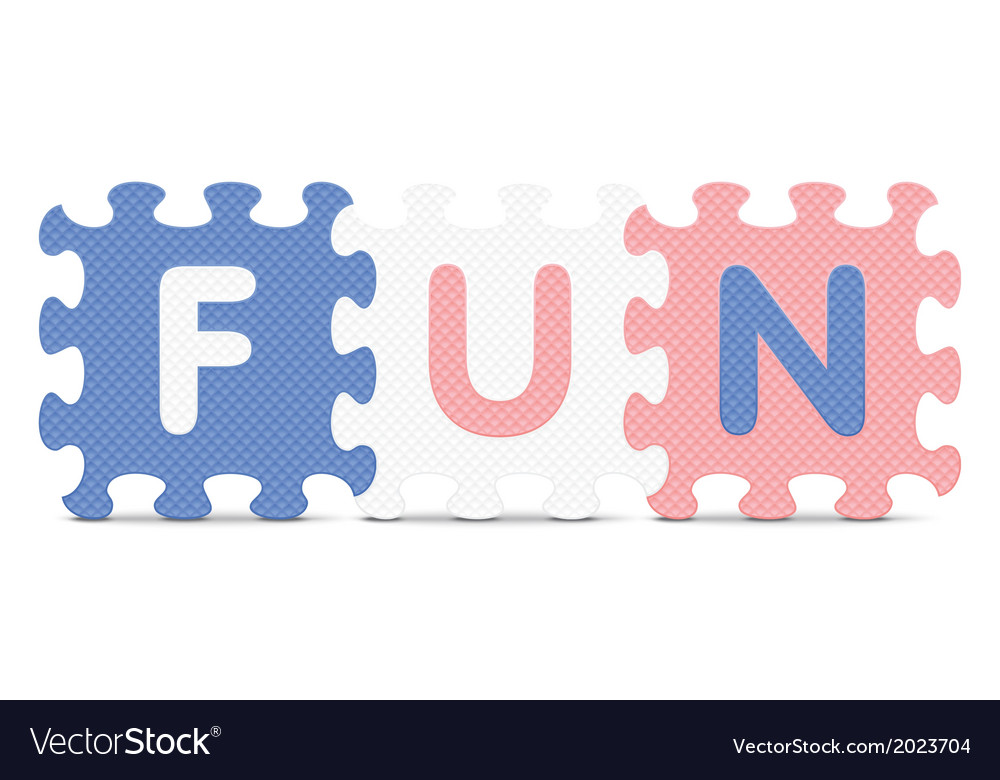 Fun written with alphabet puzzle vector   Price: 1 Credit (USD $1)