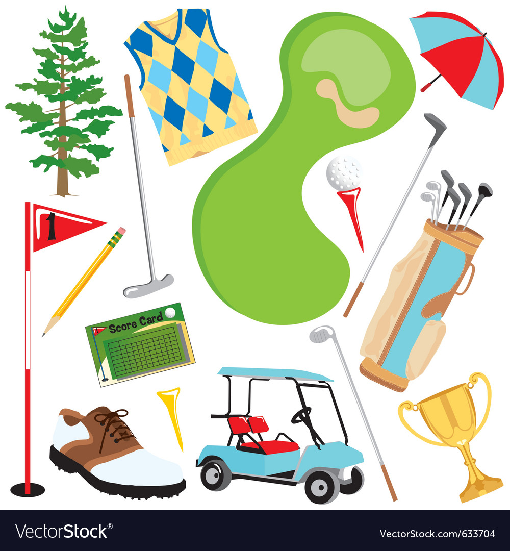 Golf icons and elements vector | Price: 3 Credit (USD $3)