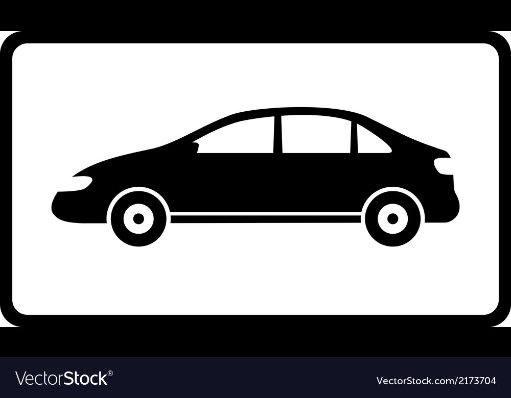 Icon with black car silhouette vector | Price: 1 Credit (USD $1)