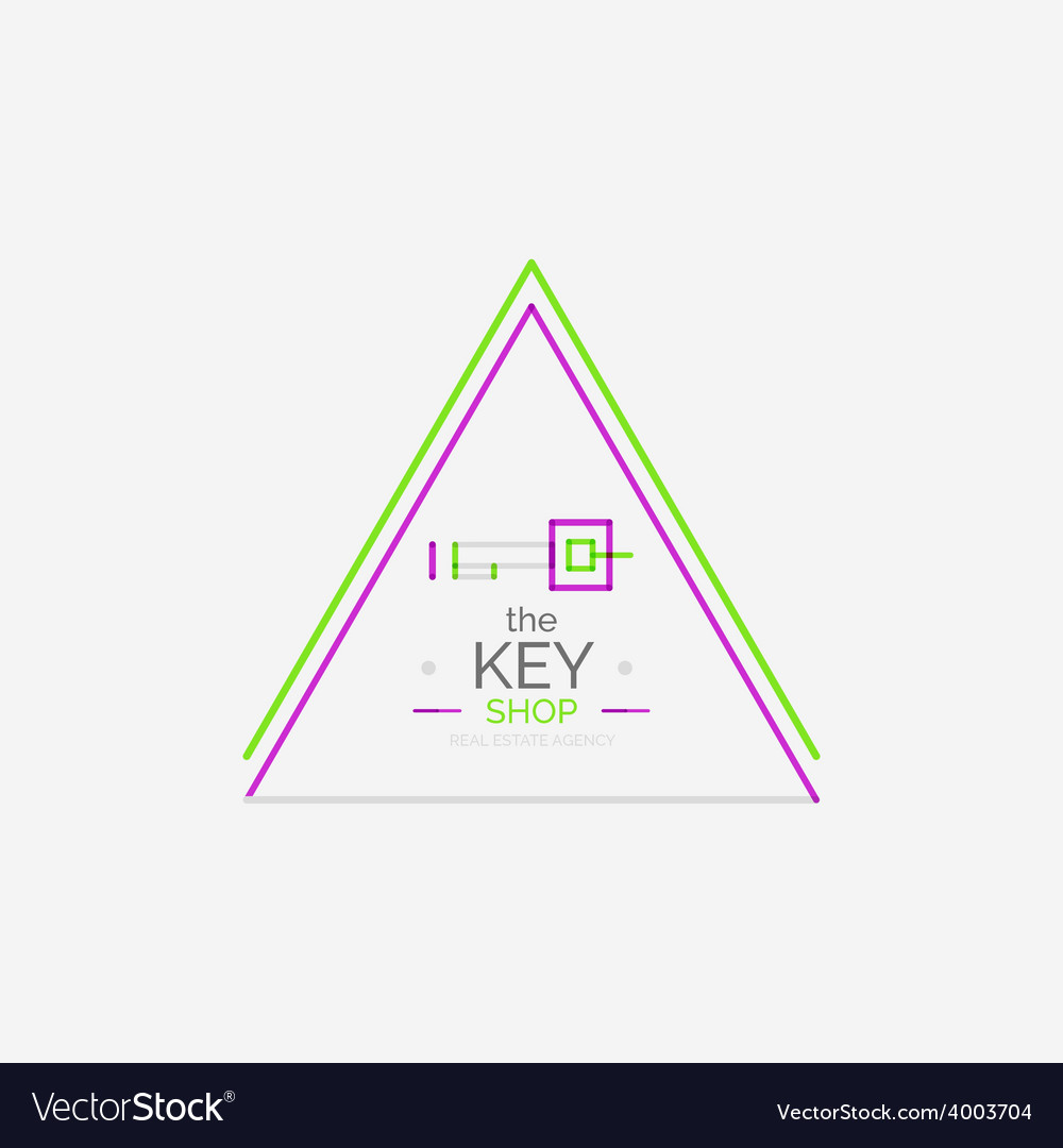 Minimal line design shopping stamps key vector   Price: 1 Credit (USD $1)
