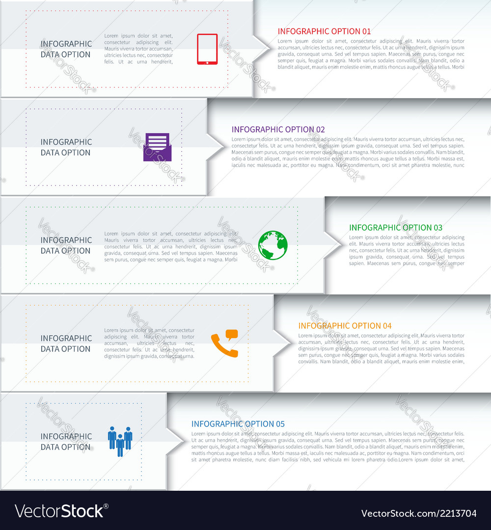 Modern minimalistic infographics template vector | Price: 1 Credit (USD $1)