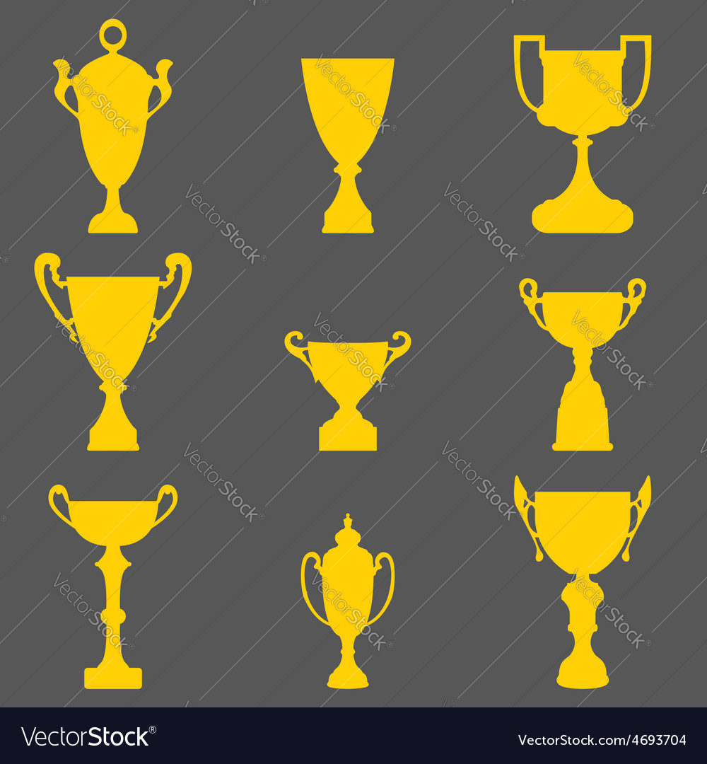 Trophy cup icons vector | Price: 1 Credit (USD $1)
