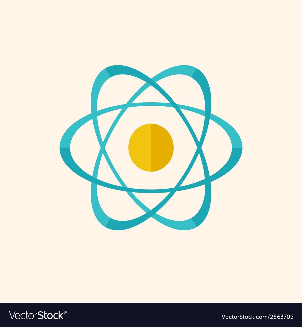 Atom flat icon vector | Price: 1 Credit (USD $1)