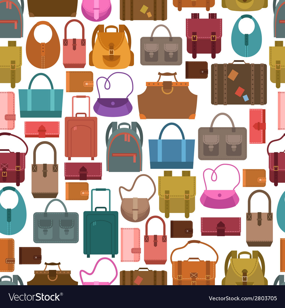 Bags colored seamless pattern vector | Price: 1 Credit (USD $1)