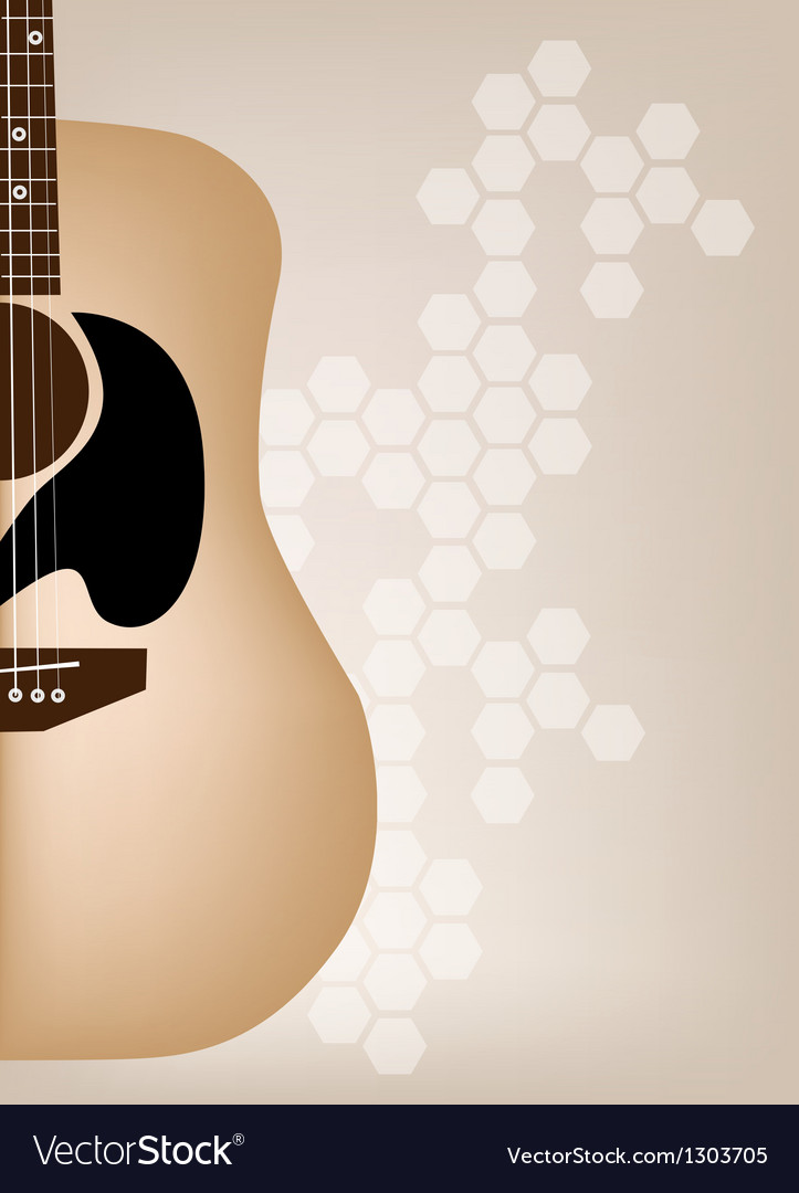 Elegance guitars on beautiful brown background vector | Price: 1 Credit (USD $1)