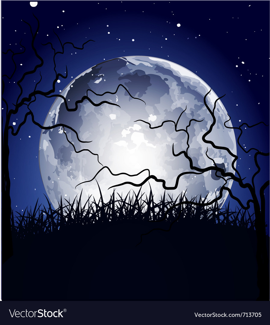 Halloween full moon background vector | Price: 1 Credit (USD $1)