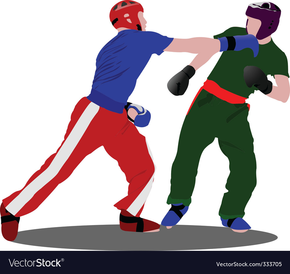 Kick boxing vector | Price: 1 Credit (USD $1)
