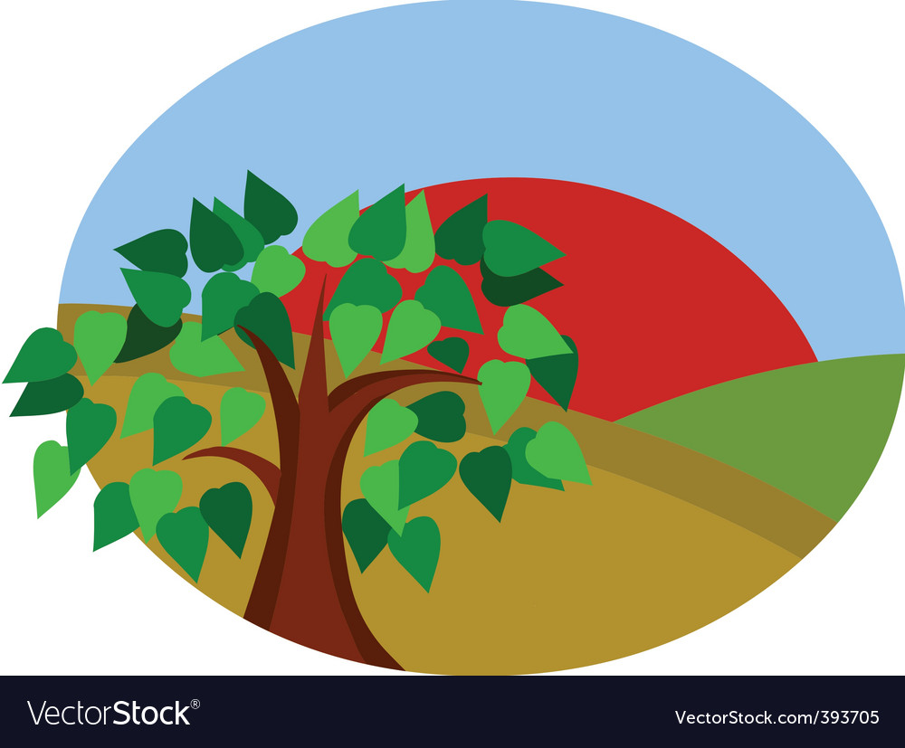 Nature and sun vector | Price: 1 Credit (USD $1)