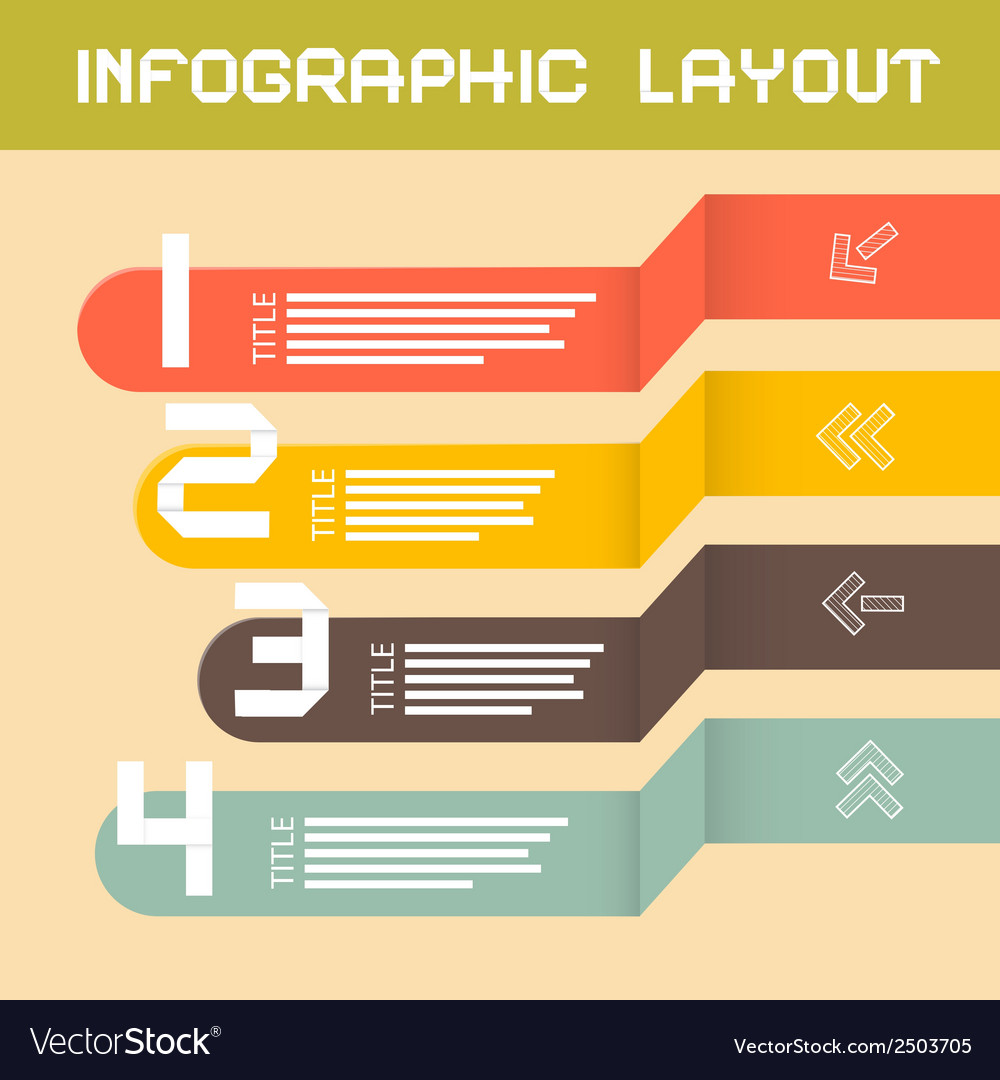 Paper infographics layout - template vector | Price: 1 Credit (USD $1)