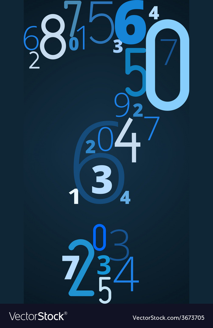 Question mark font from numbers vector | Price: 1 Credit (USD $1)