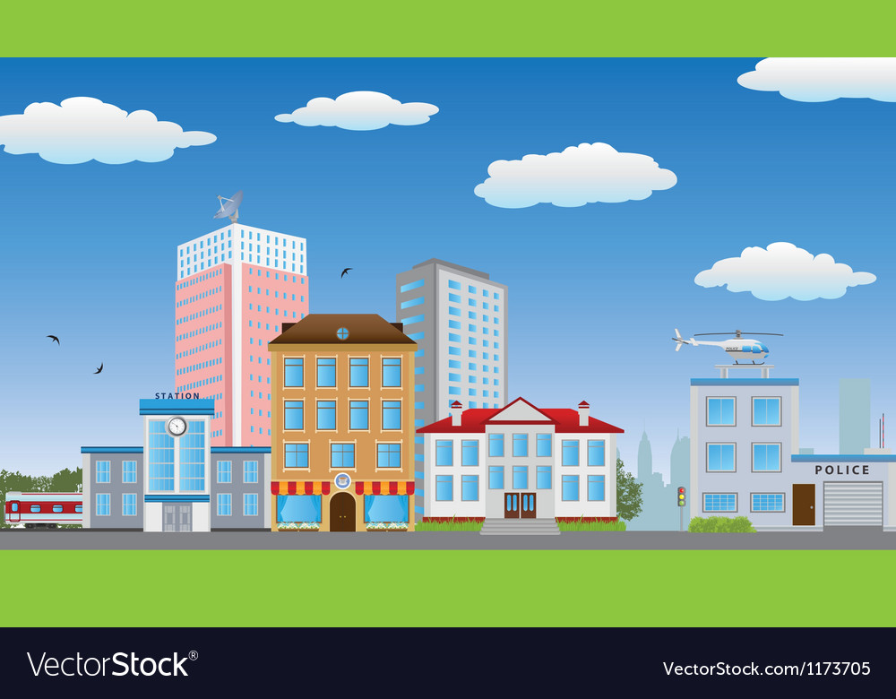 Town vector | Price: 3 Credit (USD $3)