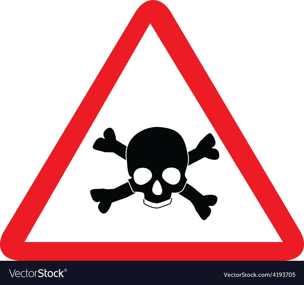 Toxic sign with skull vector | Price: 1 Credit (USD $1)