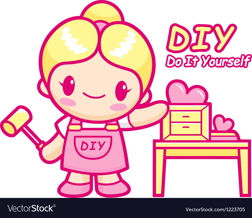 Women your own diy furniture is proud vector | Price: 3 Credit (USD $3)