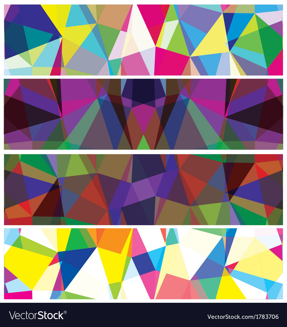 Abstract triangles banner vector | Price: 1 Credit (USD $1)