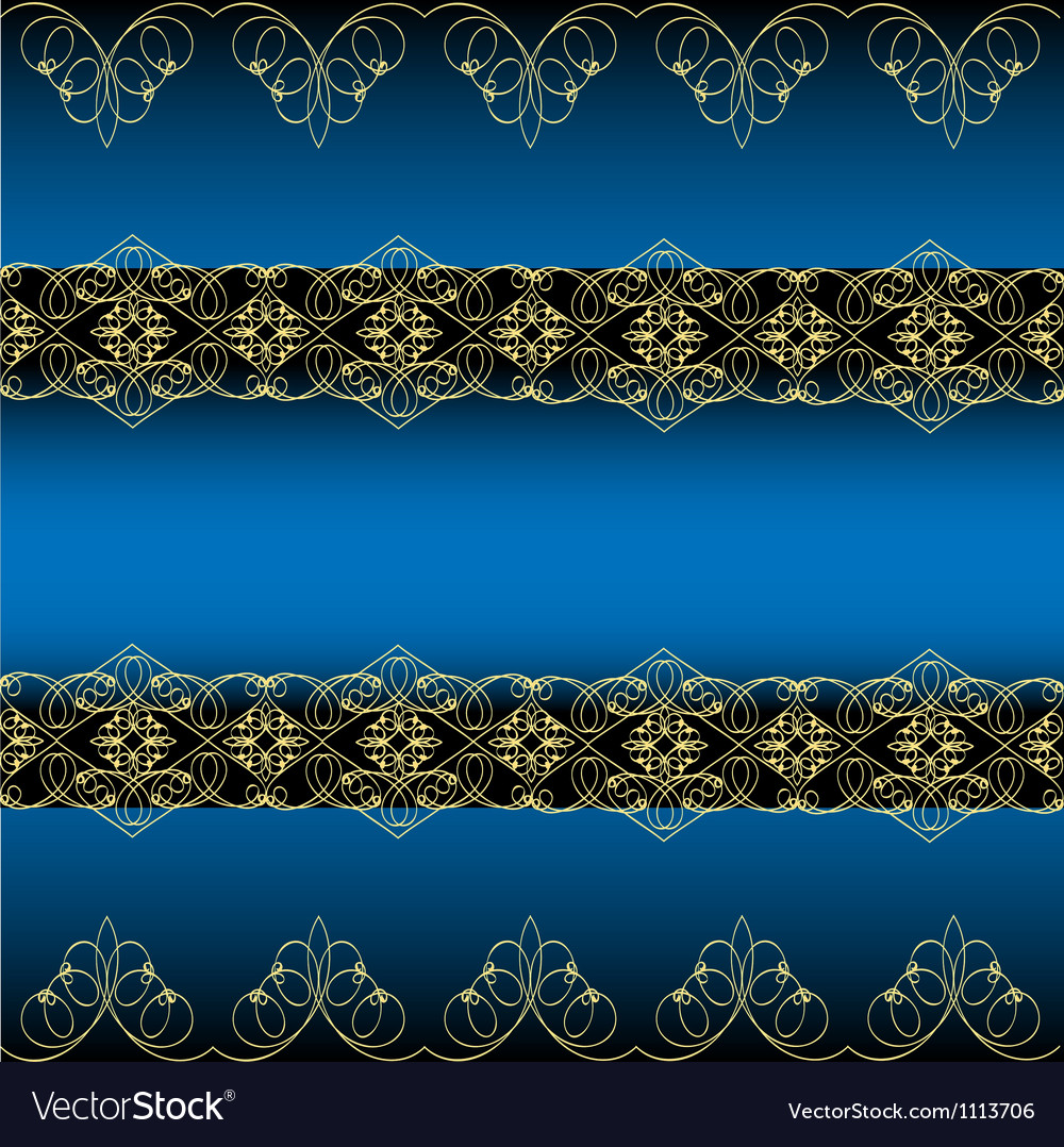 Blue ornamental background vector | Price: 1 Credit (USD $1)