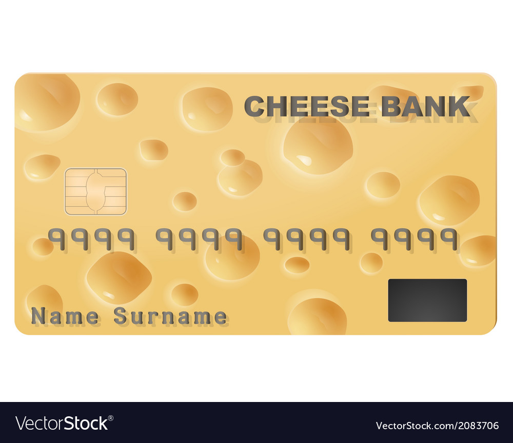 Credit card with the texture of cheese vector | Price: 1 Credit (USD $1)