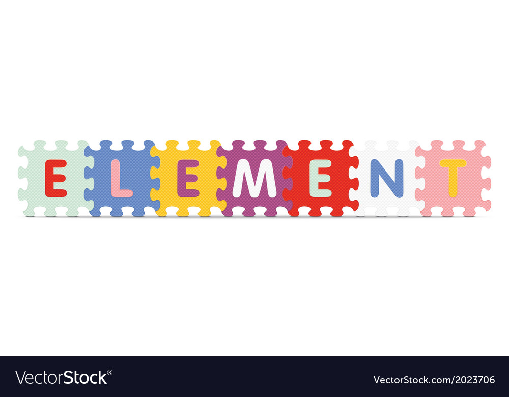 Element written with alphabet puzzle vector | Price: 1 Credit (USD $1)