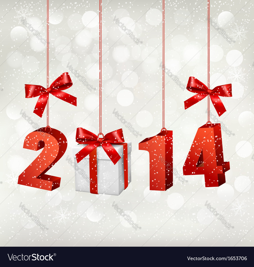 Happy new year 2014 new year design template vector | Price: 1 Credit (USD $1)