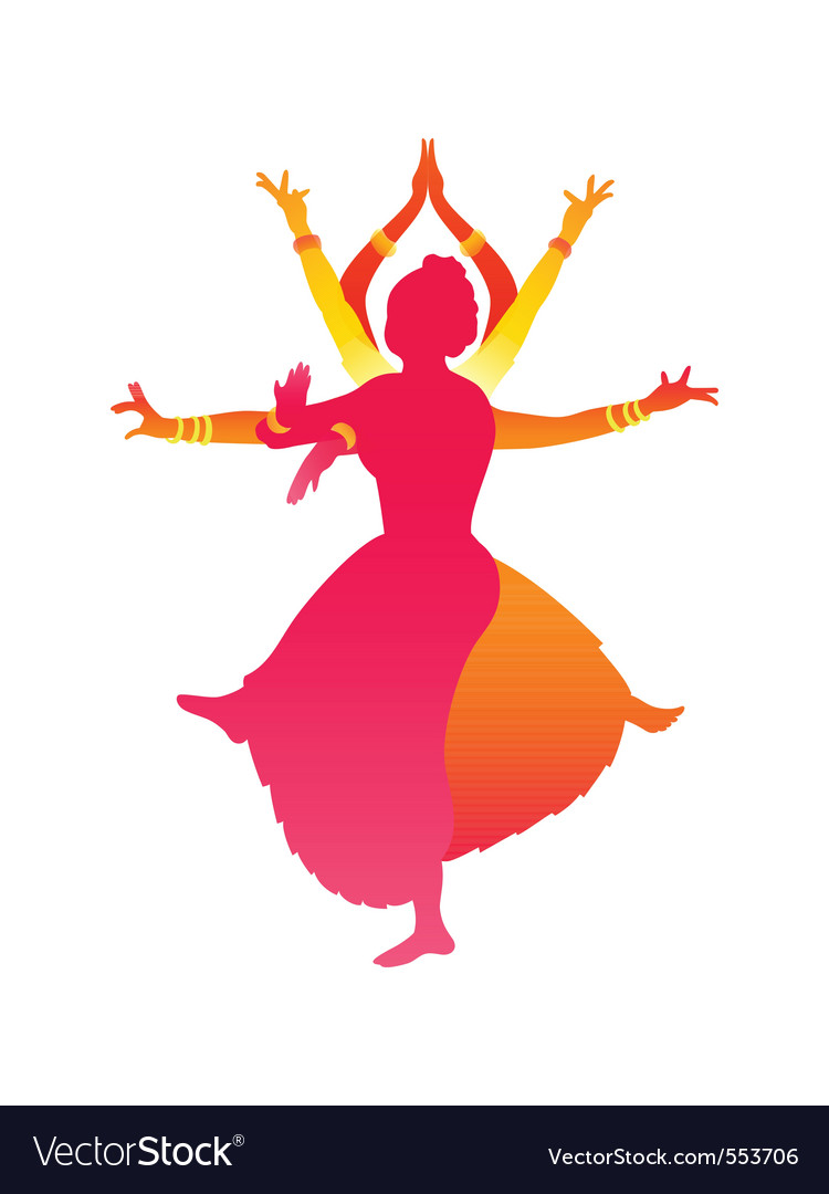 Indian female dance vector | Price: 1 Credit (USD $1)
