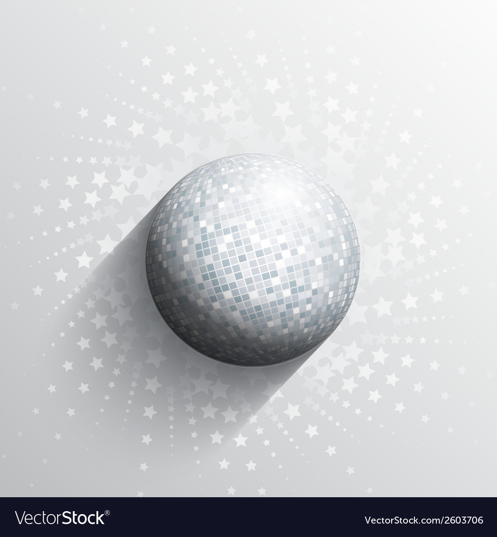 Mirror ball background vector
