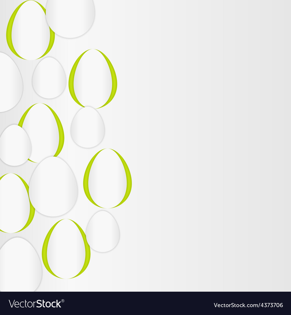 Paper background with egg shapes vector | Price: 1 Credit (USD $1)
