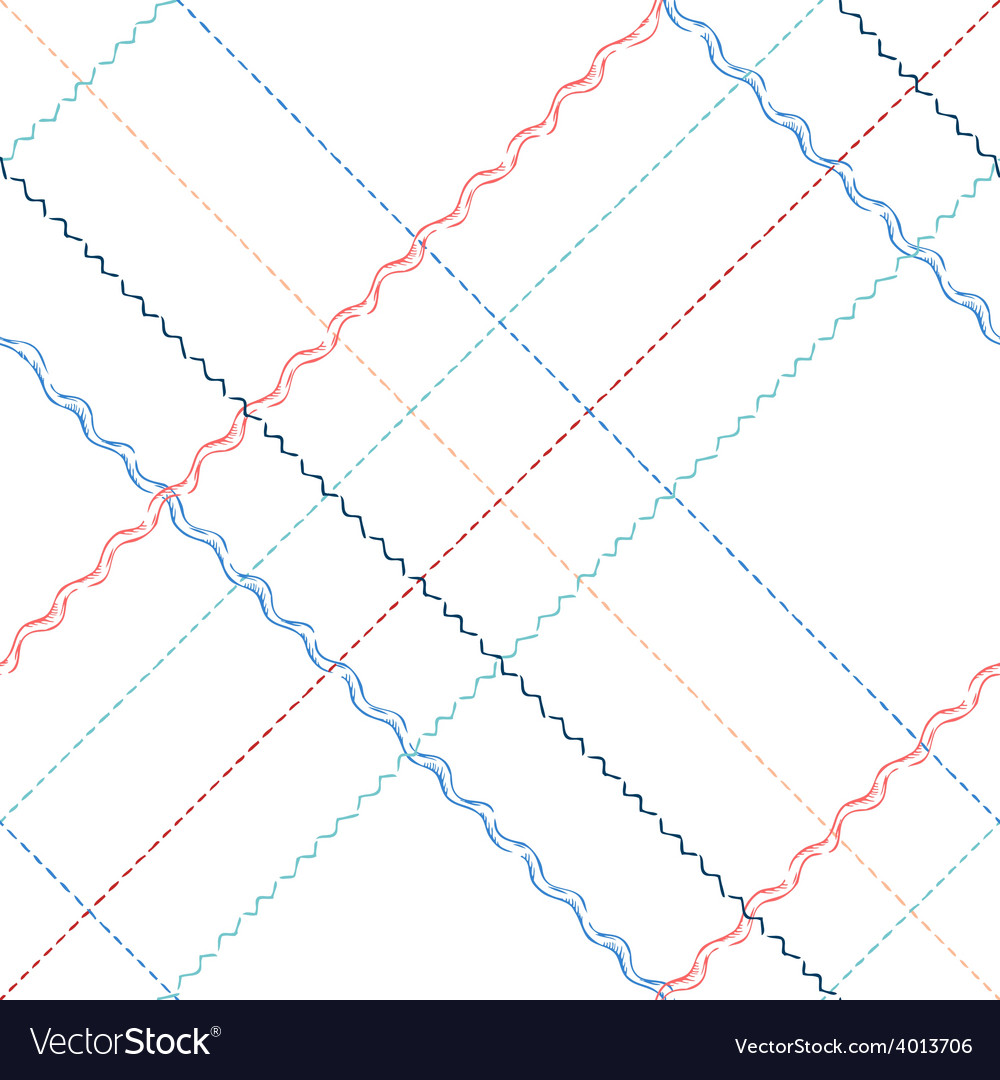 Seamless pattern of sewing stitches vector | Price: 1 Credit (USD $1)